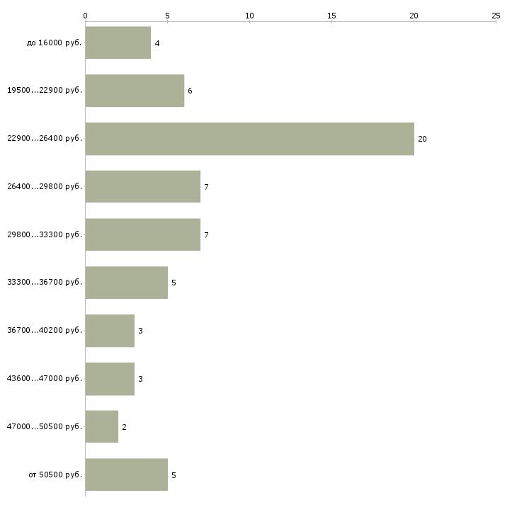 Найти работу мерчендайзер грузчик в Раменском - График распределения вакансий «мерчендайзер грузчик» по зарплате